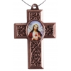 Cross Sacred Heart Antique Copper